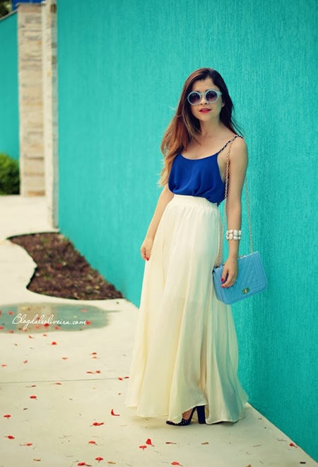 Maxi Skirts Street Style Looks for Spring