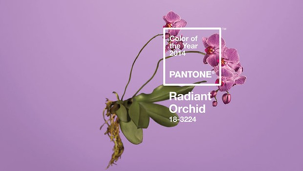 Pantone Radiant Orchid hair color