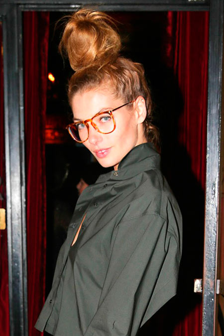 Celeb Inspired Cool Top Knot Hairstyles