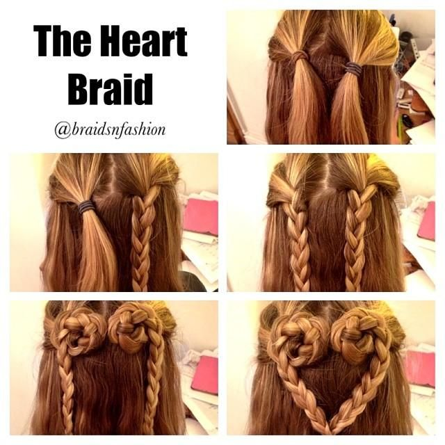Step-by-Step Hairstyle Tutorials for a heart braid