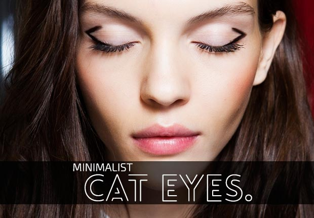 Woman with cat-eye style eyeliner