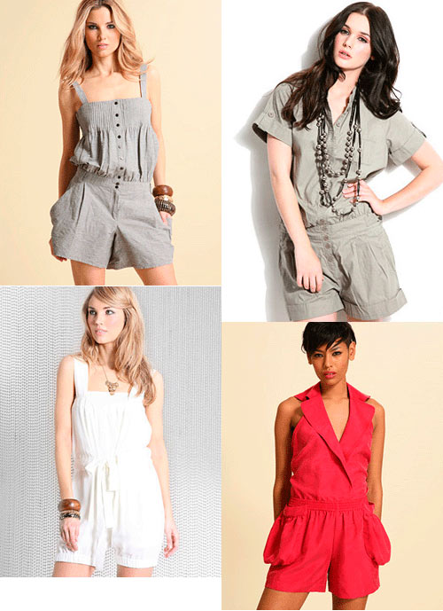 Models in various jumpsuits