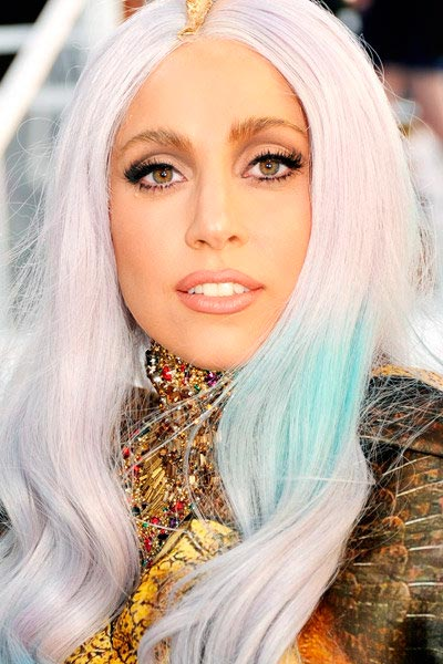 Lady Gaga with grey-tinged hair