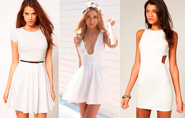 Panelled images of little white dress
