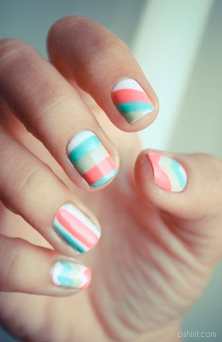 Cool pastel nail art designs