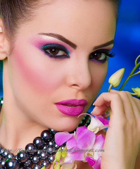 Pink and Purple Makeup Ideas for Party