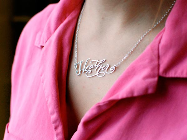 Stylish Word Necklaces to Wear This Year