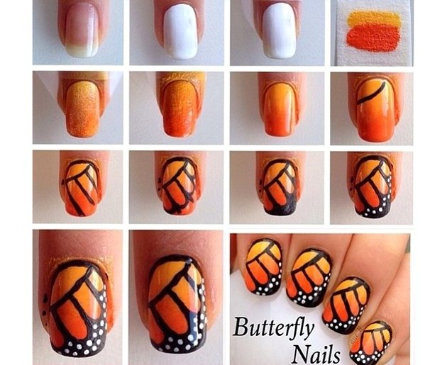 DIY Butterfly Nail Designs