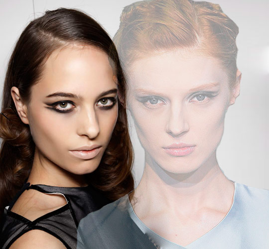 Models with double-flick eyeliner