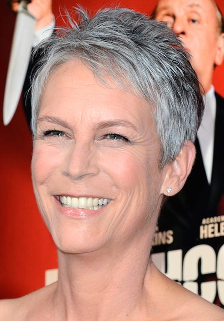 celebrity natural hair styles stylish gray hairstyles beautyfrizz 7492 | grey hair Jamie Lee Curtis free