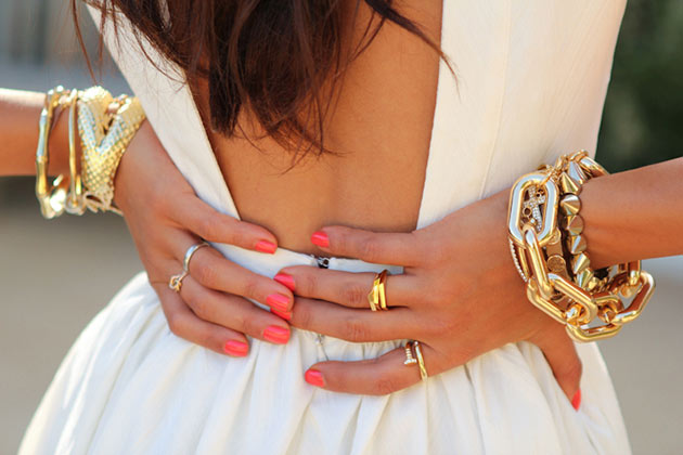 Woman's hands with accessories