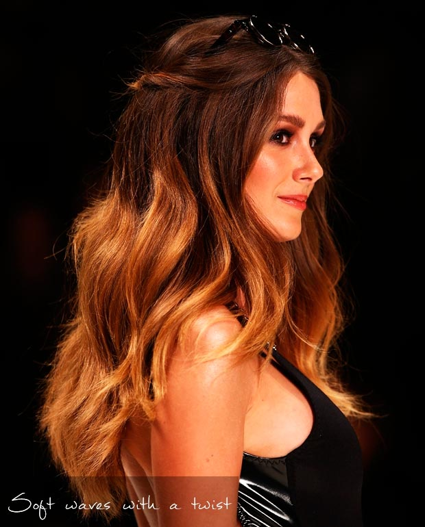 Model with soft sombre wavy hair