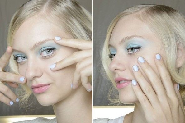 Woman with white eyeliner