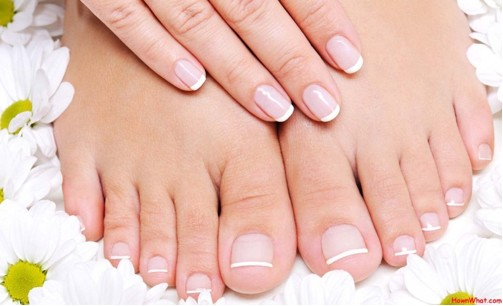 Woman's healthy fingernails and toenails