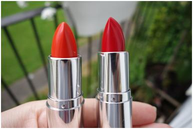 Two red lipsticks