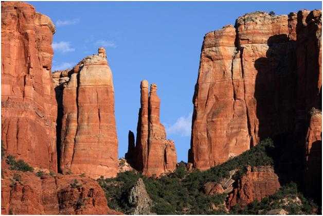 View of the canyons in Sedona, Arizona