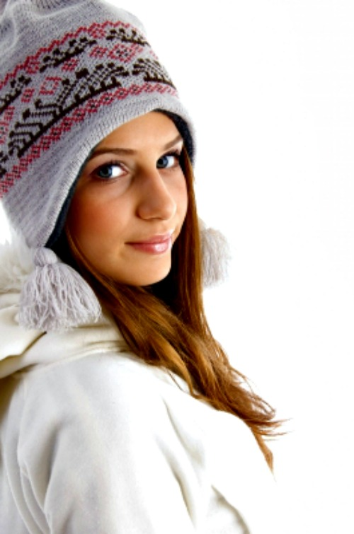 Woman in winter clothing and beanie
