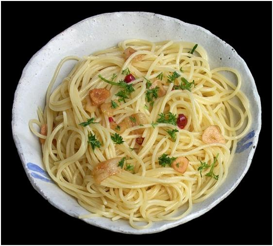 Healthy spaghetti on plate