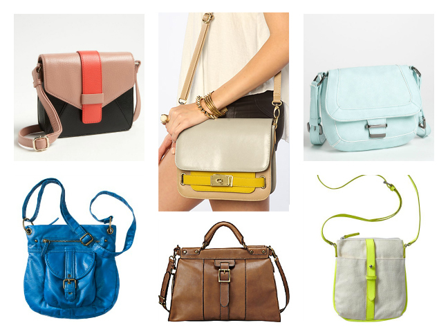 Different kinds of handbags