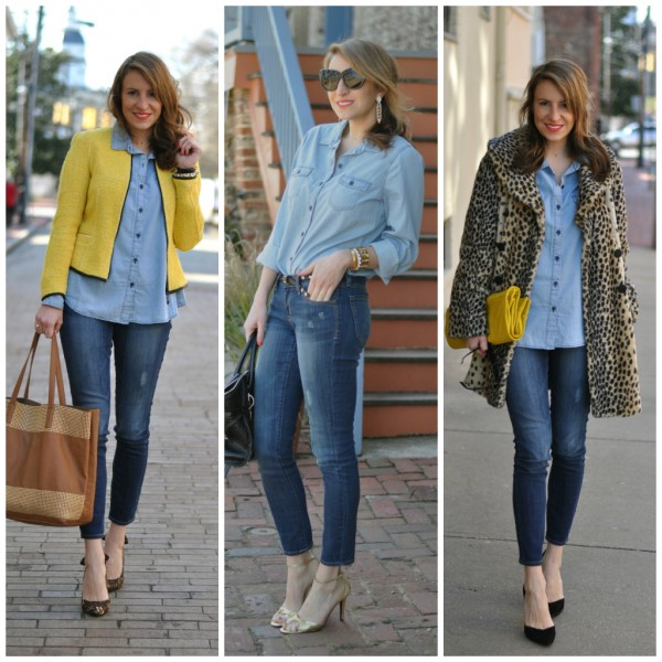 Women wearing denim