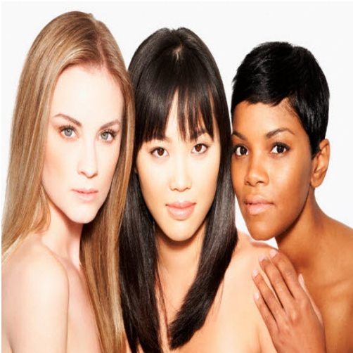 Portrait of three women with diverse ethnicities