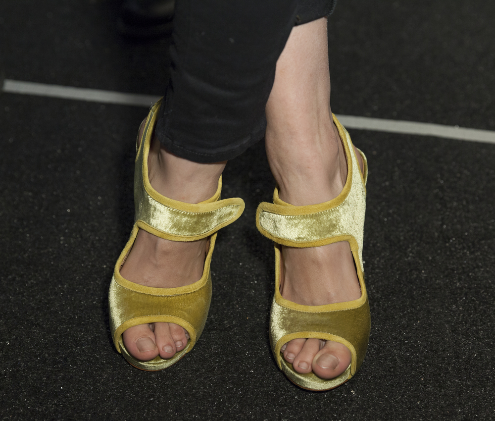 Mary Janes on the runway