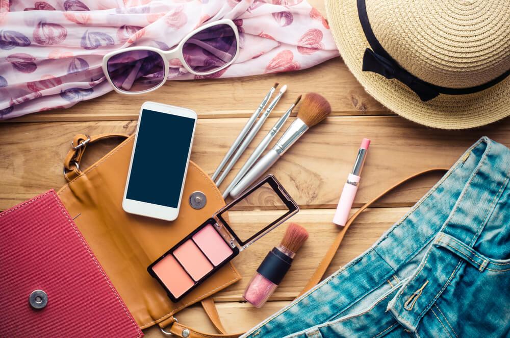 Makeup bag for traveling