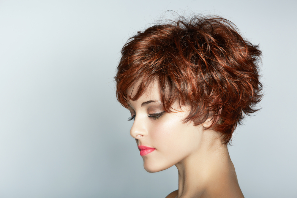 Profile of woman with pixie hair cut