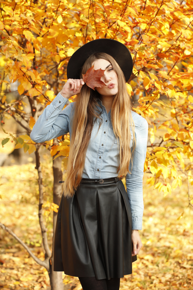 Women in fall fashion
