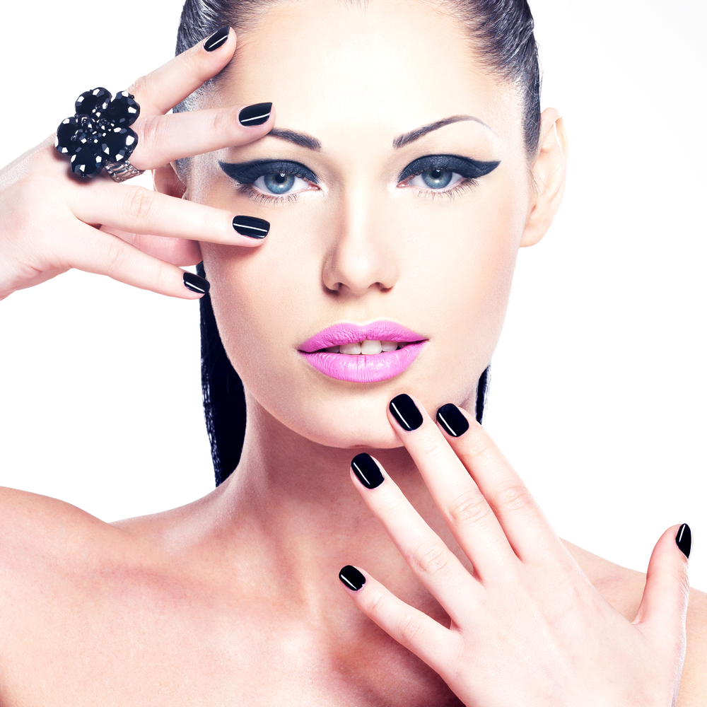 Women with fashionable nails