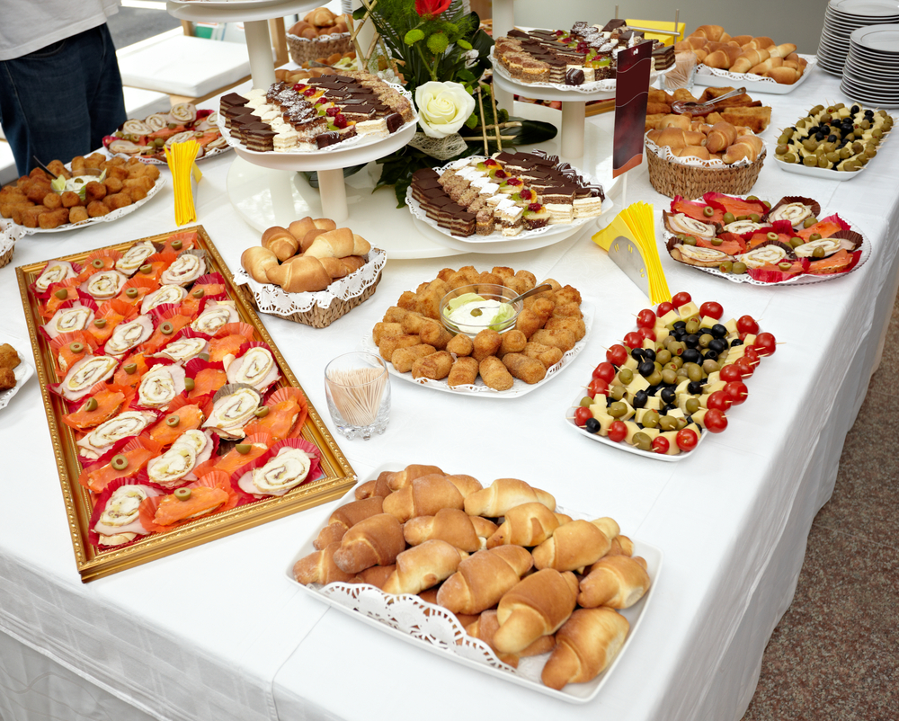 Image of a potluck party