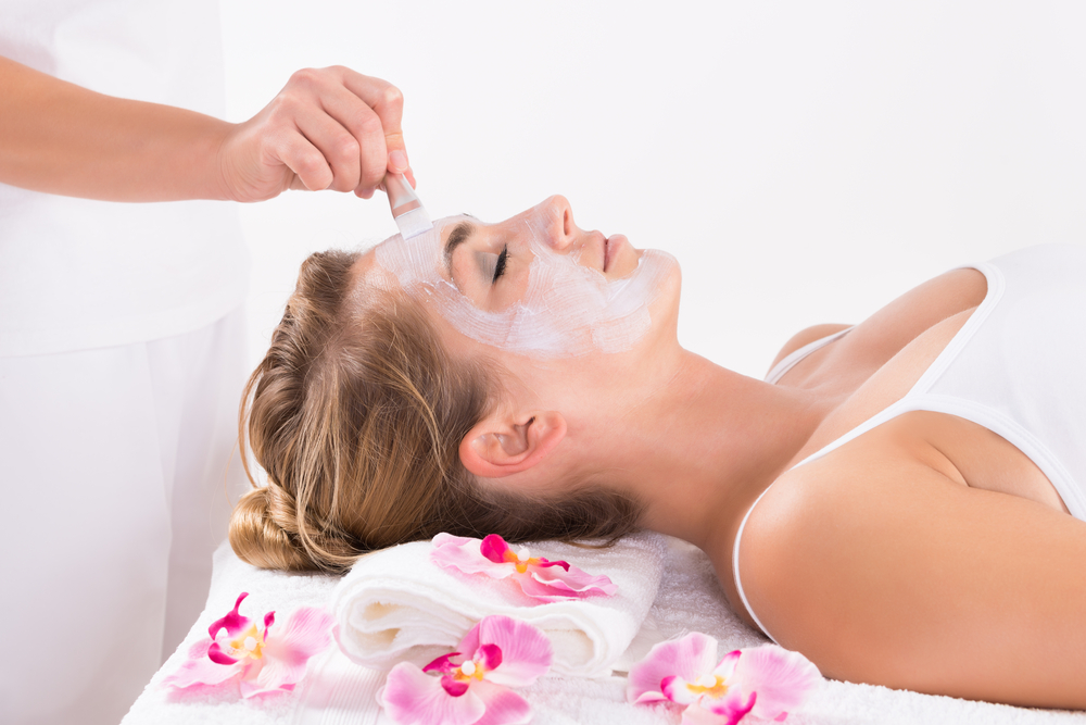 Women getting a chemical peel treatment