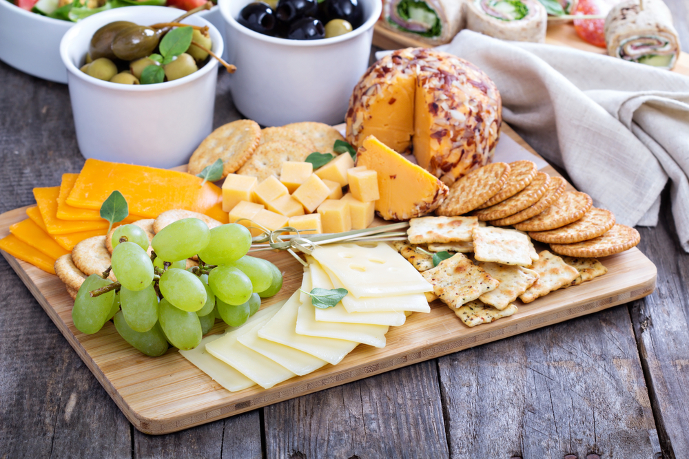 Cheese plate with appetizers