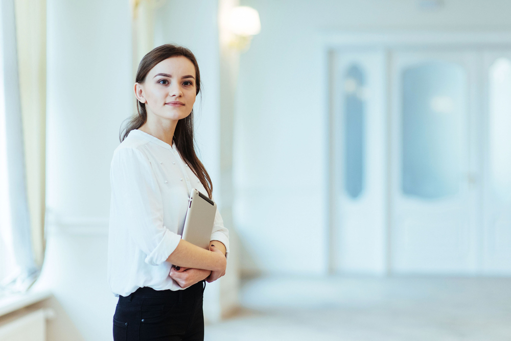 Business woman in corridor