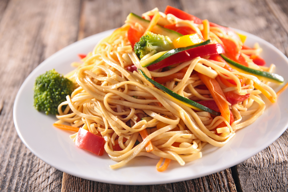 Vegetable Noodles on plate