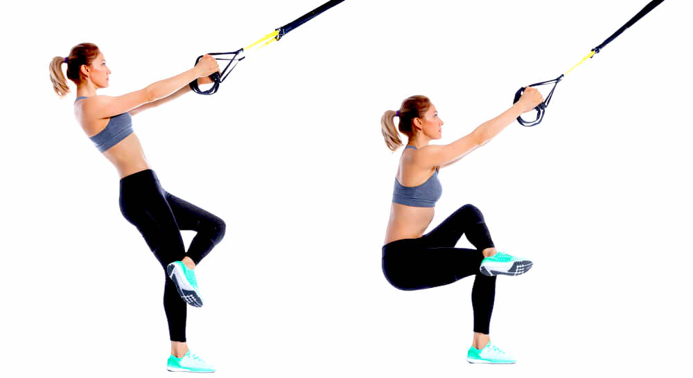 TRX single-leg squat