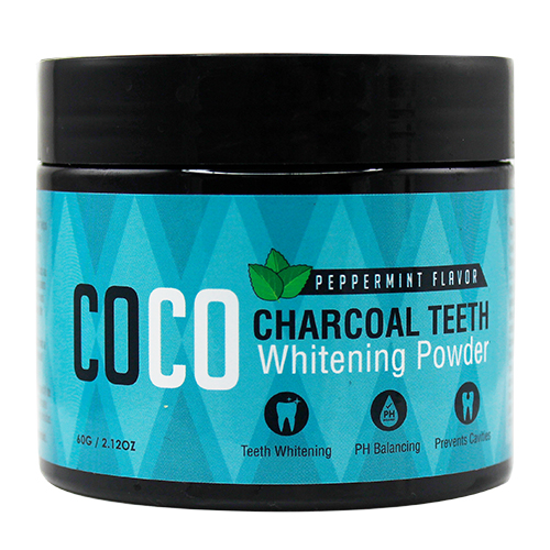 Coco Charcoal Teeth Whitening Powder Mint