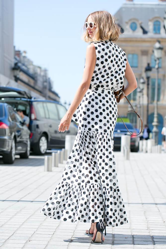 PARIS-MARCH 8, 2016. Famous Argentine blogger Candela Novembre is going to a fashion show. Paris fashion week.