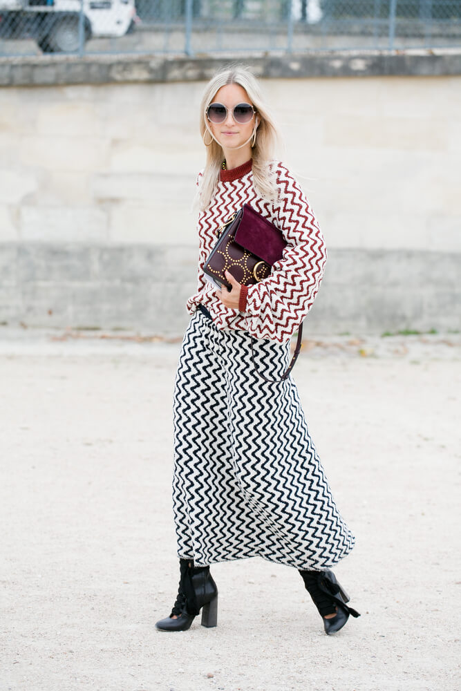 PARIS-SEPTEMBER 29, 2016. Dutch fashion blogger Charlotte Groeneveld arrives at Paris Fashion Week.