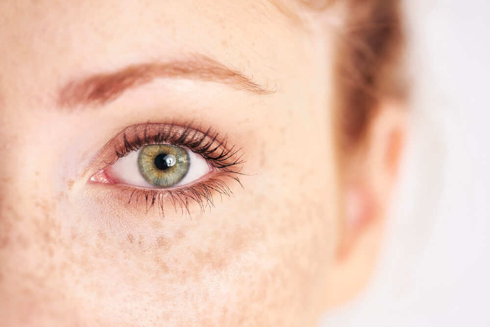 Closeup of woman's eye