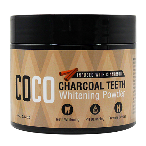 Coco Charcoal Teeth Whitening Powder Cinnamon