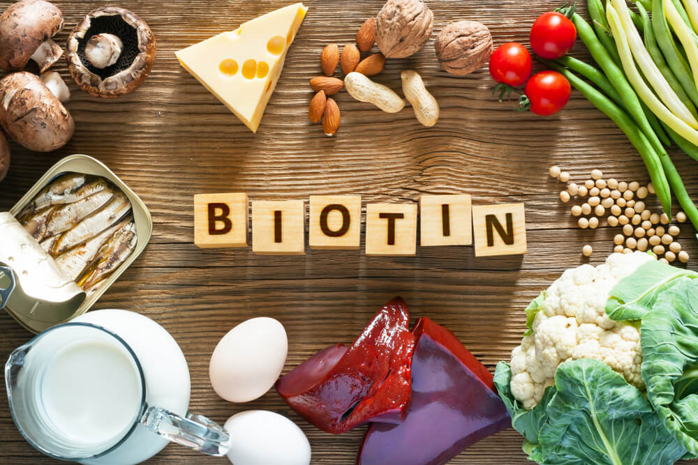 Food sources of biotin
