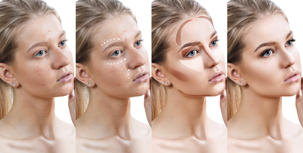 Progression of contouring and highlighting