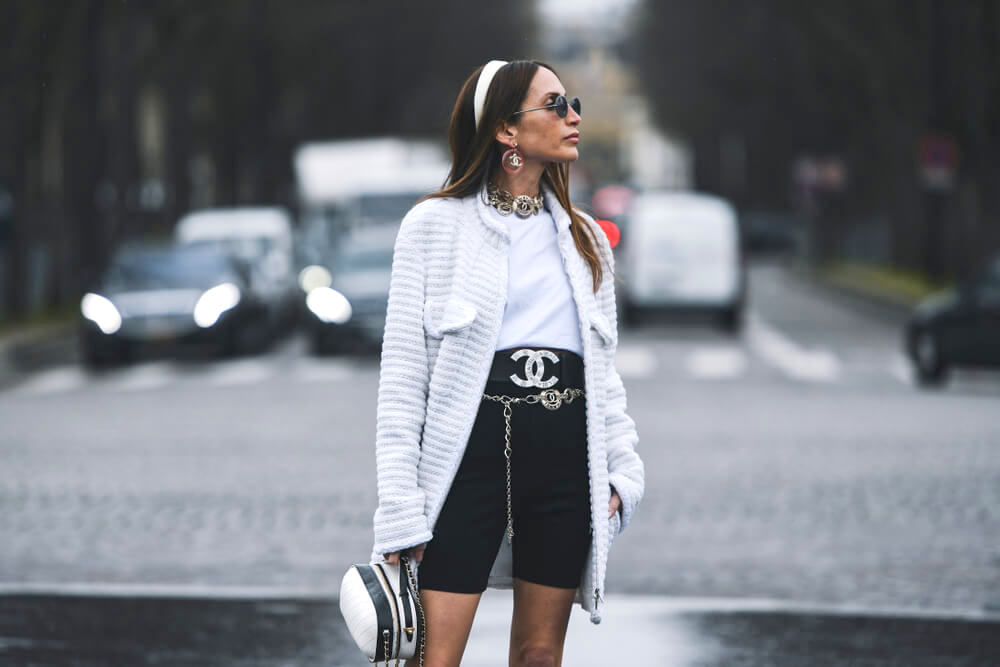 Paris, France - March 5, 2019: Street style outfit - Loulou De Saison before a fashion show during Paris Fashion Week - PFWFW19