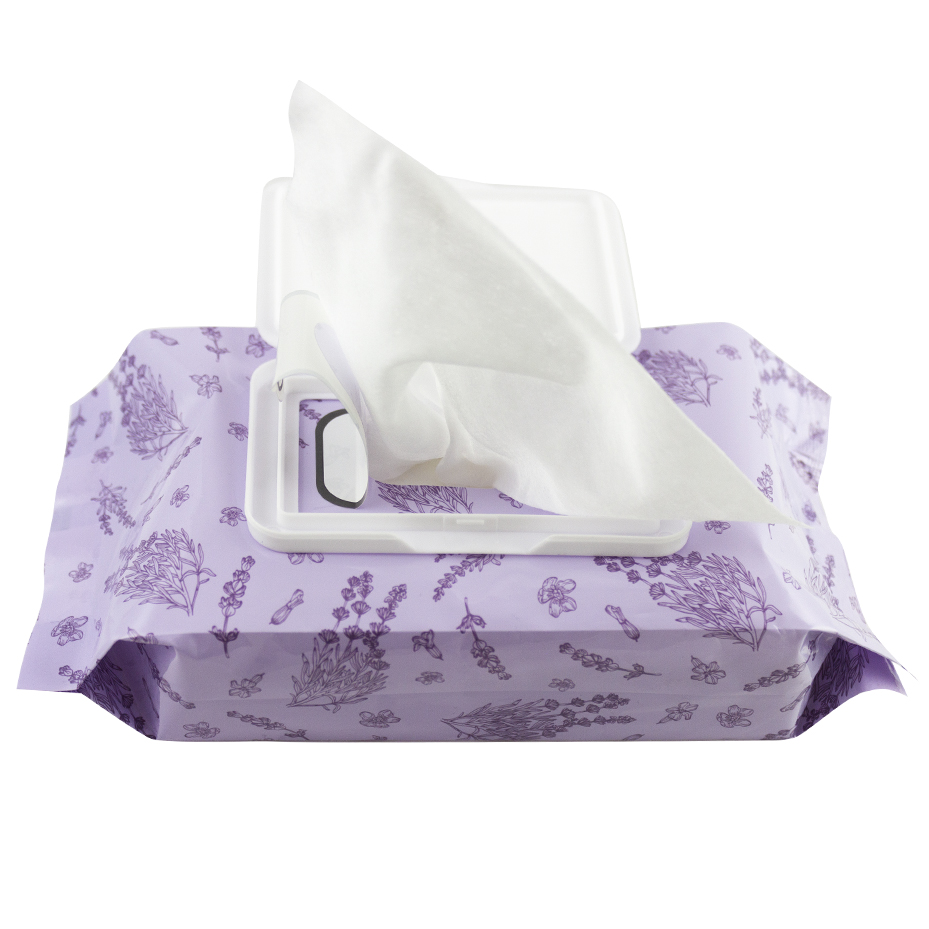 lavender wipes with open lid