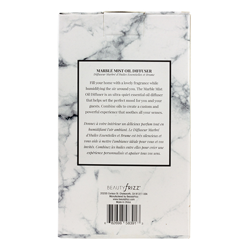 marble mist oil diffuser packaging details