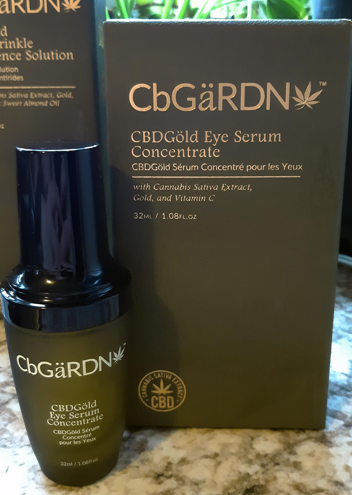 CBDGold Eye Serum Concentrate with box