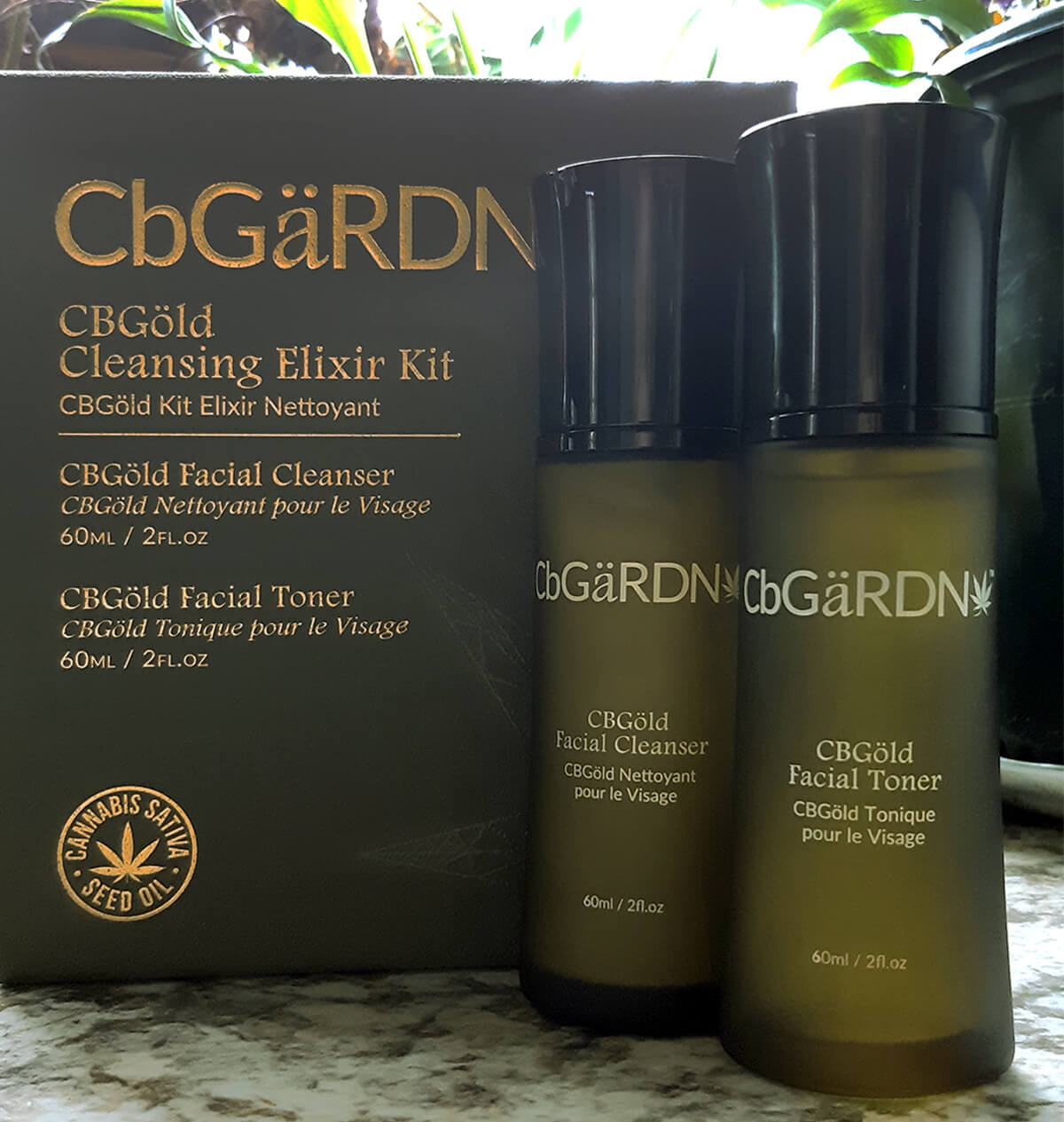 CBGold Cleansing Kit with cleanser and toner