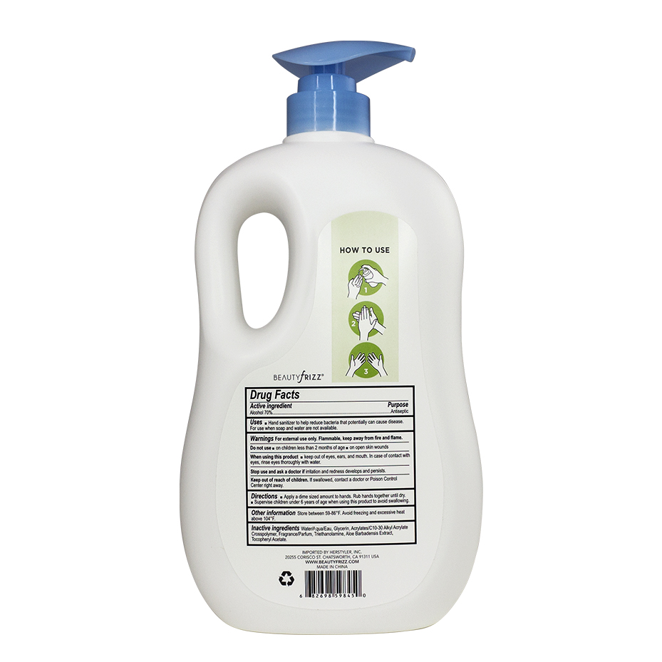 Hand Sanitizer-1L back