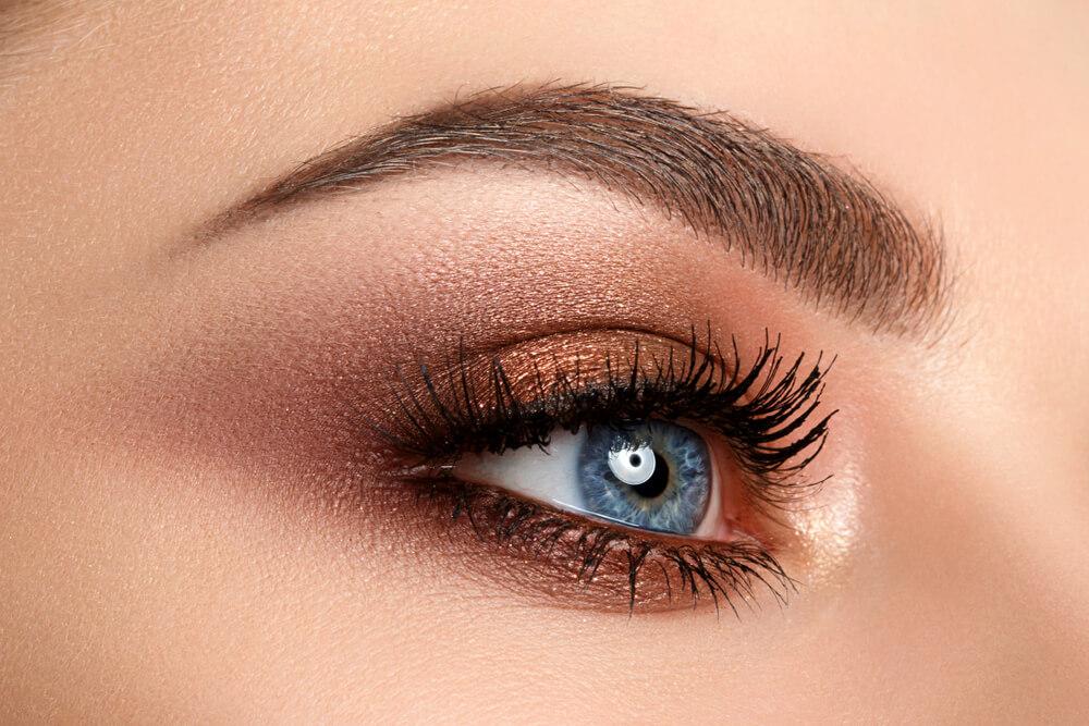 Woman with metallic eyeshadow